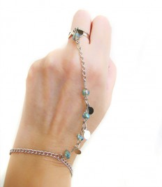 slave bracelet Rhinestone Crystal Sparkly hipster by selenayy