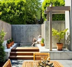 Fantastic minimalist outdoor space | urban garden | Pinterest