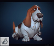 ArtStation - Basset hound, Maria Panfilova