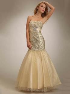 Trumpet/Mermaid Sweetheart Satin Tulle Sweep Train Sashes / Ribbons Prom Dresses - www.msdress.co.uk