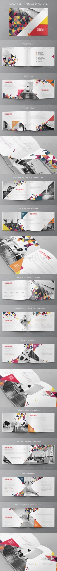 Colorful Triangles Brochure | GraphicRiver