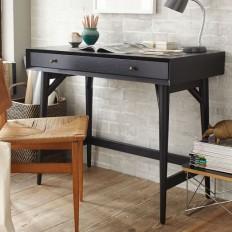 Mid-Century Mini Desk – Black | West Elm