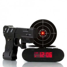 Gun And Target Recordable Alarm Clock | GeekyGet