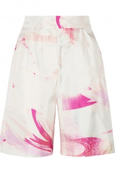Matthew Williamson|Printed silk-twill shorts|NET-A-PORTER.COM