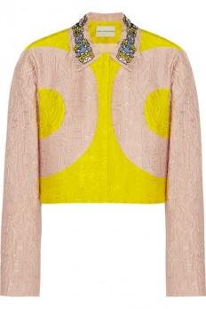 Mary Katrantzou|P two-tone alphabet-jacquard jacket|NET-A-PORTER.COM