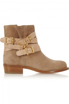 Rupert Sanderson|Parnassus suede and leather ankle boots|NET-A-PORTER.COM