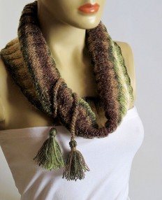 The Chunky Cowl Neckwarmer Scarf multicolor scarf by selenayy