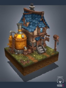 ArtStation - Medieval brewery, Antonio Neves