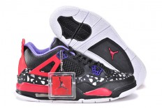 "Nike AJ 4 IV Retro ""Area 72"" Custom in Male Shoes Black & Purple/Red - White"