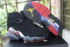 "Air Michael Jordan 8 ""Playoffs"" Basketball Training Shoes White/True Red/Black Colorway"