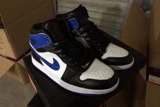 Air Jordan 1 Nike Blue White Black Sports Sneakers