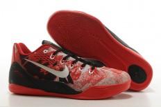 "Premium Collection Zoom Kobe 9 IX Low EM ""Gym Red"" Sports Footwear - Color: Bright Crimson/Metallic Silver/Gym Red"