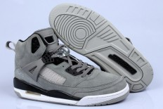 "Air Jordan Spizike ""ID"" Basketball Sneaker: Wolf Grey & Black"