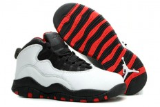 AJ 10 X Retro Chicago Colorway Black Red White Women Size Nike Brand Training Shoes