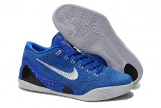 Low Nike Kobe Bryant 9 Elite Low Basketball Trainning Shoes - Royal Blue/White/Silver