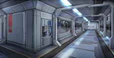Sci-Fi Hallway (WIP) - Polycount Forum
