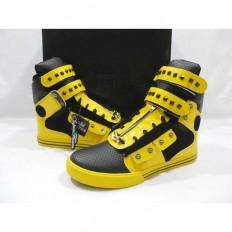 Supra Society Hi Skate Shoes Yellow Black Zipper Hasp - $89.99
