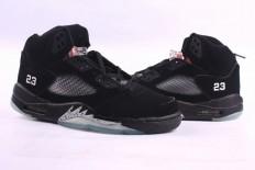 jordan retro 5 grapes all black men's shoes