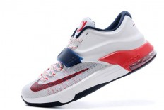 "Cheap Kevin Durant 7 Basketball Sneakers ""July 4th"" - Obsidian/White/University Red"