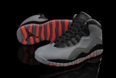 Michael Mens Jordan Retro 10 Steel Grey/Infrared/Black Colors Men Size Sport Sneakers