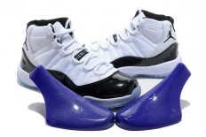 "Air Jordans/Air Jordan 11 Big Size Sports Sneaker ""Concord"" - White and Black Color"