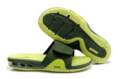 Men's Nike Air LeBron Slide Army Green/Volt Green Shoes