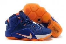 """Hardwood Classics"" LeBron 12 Nike Brand White Orange Royal Sports Trainers"