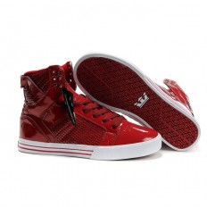 Nike Supra Skytop Red Perf White Skate Shoes - $84.99