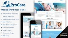 Procare - responsive WordPress doctors theme