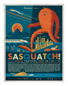 Illustration / Sasquatch! Music Festival 2010 poster by Invisible Creature