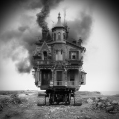 Sinister Architecture Constructed from Archival Library of Congress Images by Jim Kazanjian | Colossal