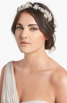 Halo & Co. 'Cannes' Crystal Flower Headband | Nordstrom