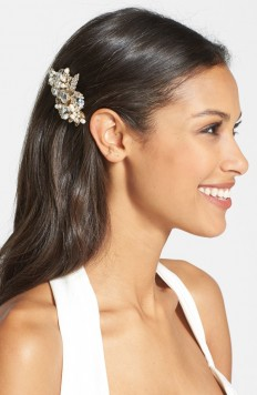 Wedding Belles New York 'Luella' Czech Crystal & Freshwater Pearl Clip | Nordstrom