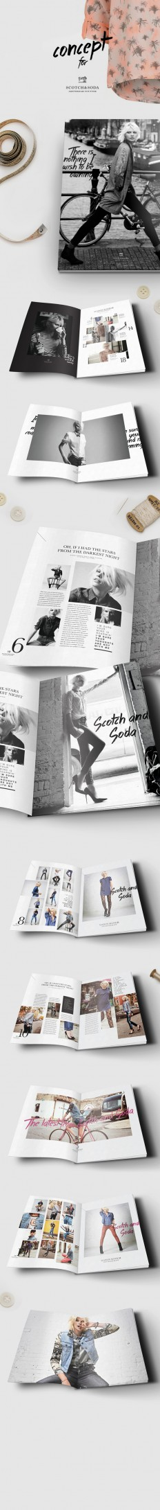 Scotch & Soda magazine/lookbook concept on