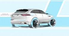 Jaguar SUV sketch on