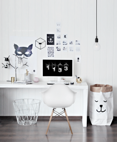 My Home office got a Playful look on Inspirationde
