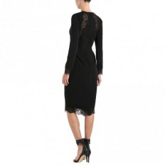 Crepe Lace Tuck Dress - Clothing - Ready To Wear - The Latest