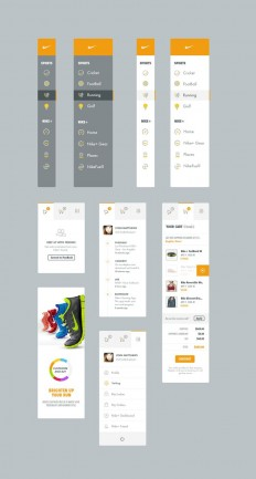 Nike UI / UX by Kenil Bhavsar on Inspirationde