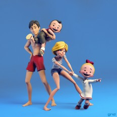 ArtStation - Luke and Lucy Cast, Olivier Couston