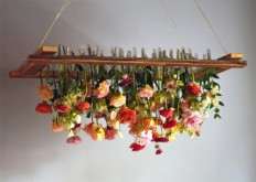DIY Project: Hanging Floral Chandelier | Design*Sponge