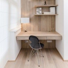 Minimal work area in a remodel by Czech firm on Inspirationde