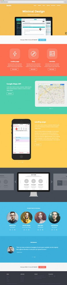 Beetle - Responsive HTML Template