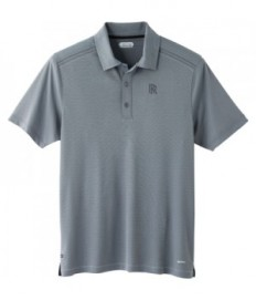 Men's Texured Polo - Debossed Logo