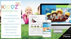 Kiddz - responsive WordPress Kindergarten Theme