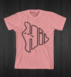 "BIG ISLAND BUILT - The Leader In Elite SurfWear, Hawaii Shirts and Surf Clothes Big Island ""HI"" Shirt - Pink"