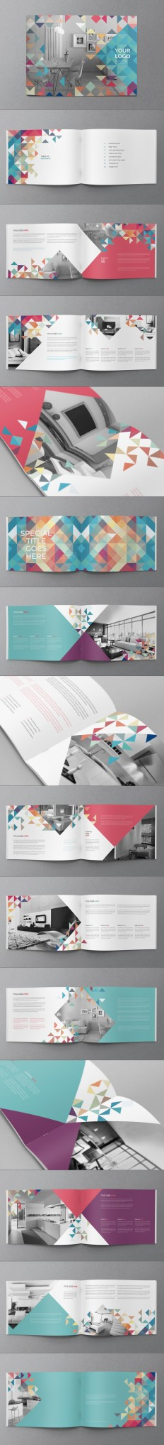 Minimal Colorful Brochure on