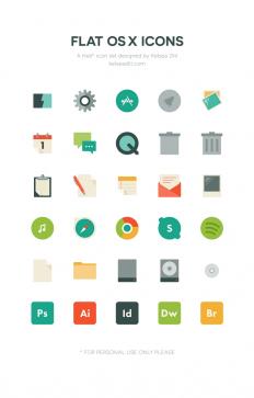 Flat OS X Free Icons