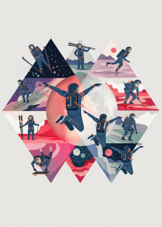 Space Winter Sports By Neil Stevens on Inspirationde