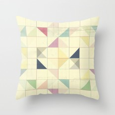 Triangles and Squares Throw Pillow by Metron | Society6