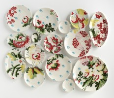 Hand-Painted Ceramic Plates by Molly Hatch